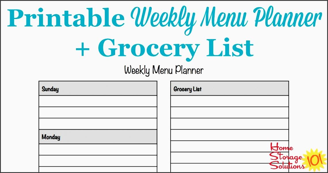 8 Weekly Meal Planner Editable - SampleTemplatess ...