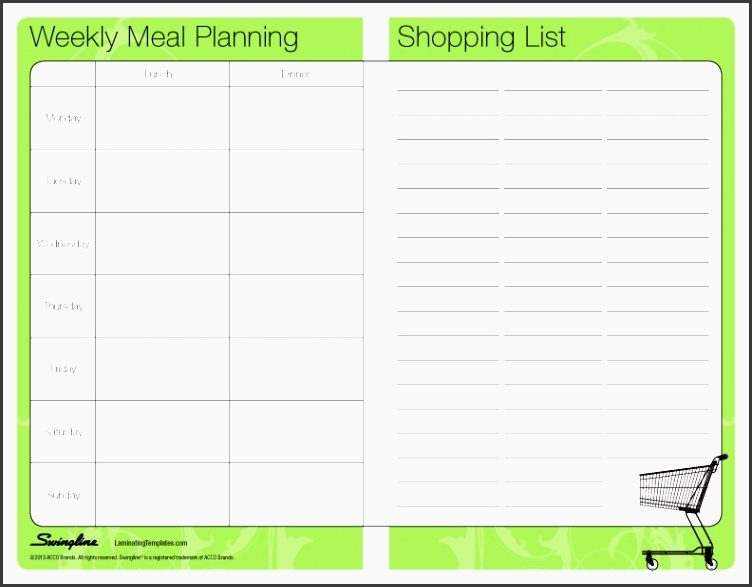 8 weekly meal planner editable sampletemplatess sampletemplatess. Black Bedroom Furniture Sets. Home Design Ideas