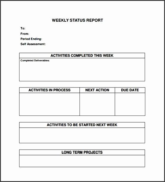 Weekly Status Report Templates  Sampletemplatess  Sampletemplatess