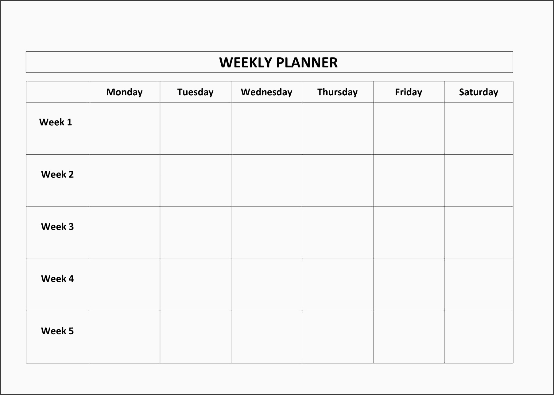 11 weekly time planner for students
