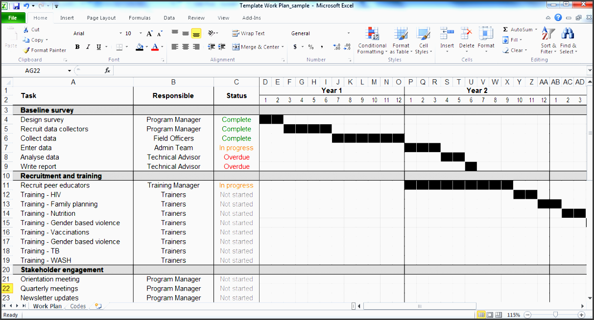 5 weekly time planner template in excel for Cutover plan template
