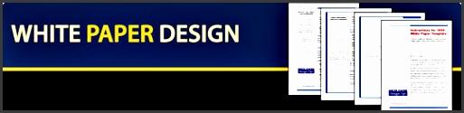 white paper design banner s