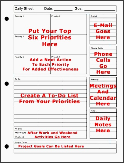 day planner printable printable daily planner the top six strategy for success