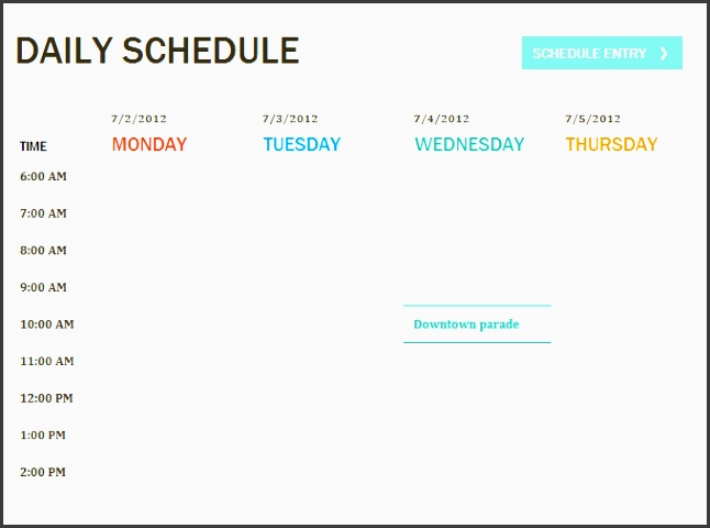 daily itinerary template 4 free word excel pdf documents