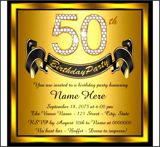 50th Birthday Party Invitations Templates 50th Birthday Party Invitation Template Cimvitation Ideas