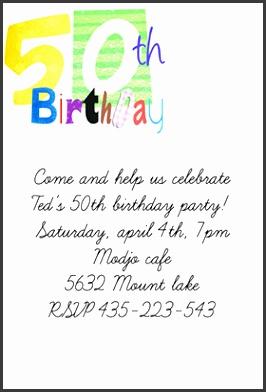 50th birthday invitation template 11