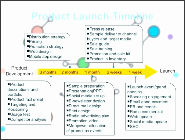 timeline business plan template product launch plan of shoe cleaning mousse timeline business plan example