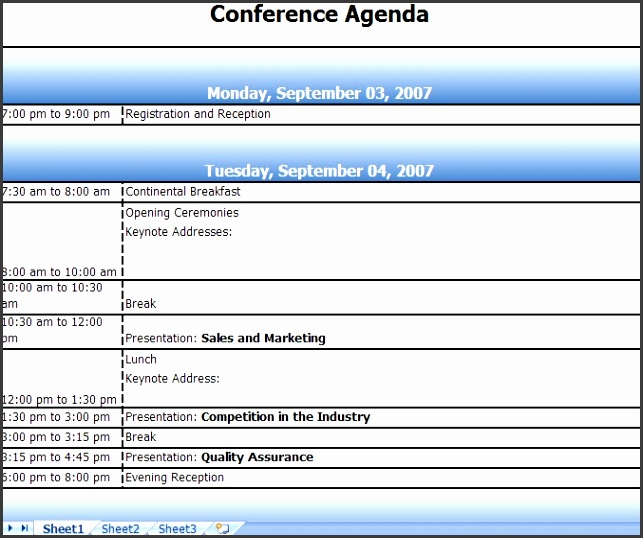 Meeting agenda template excel avant garde imagine conference