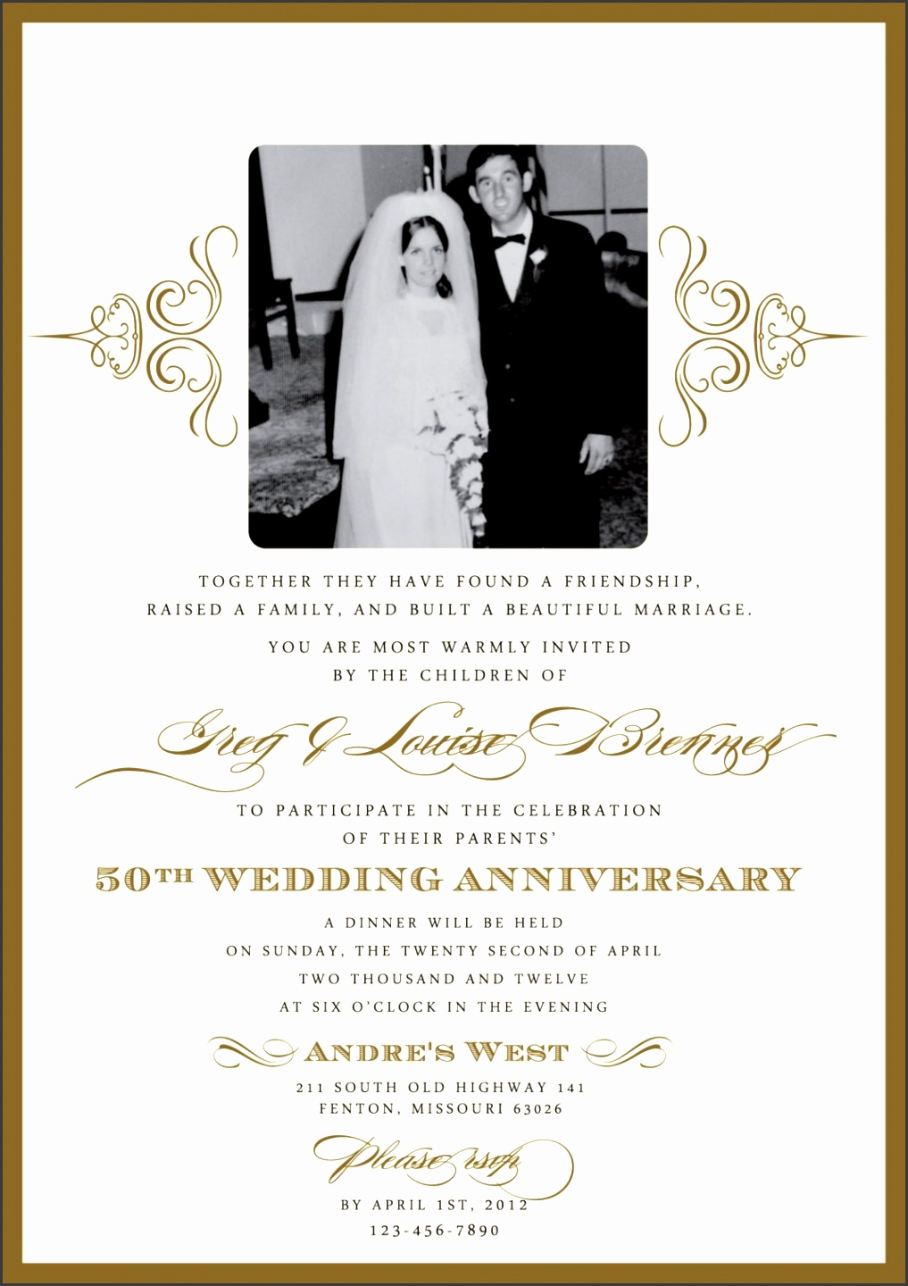 Anniversary Invitation Templates Free Printable SampleTemplatess - Wedding invitation templates: wedding anniversary invitation templates