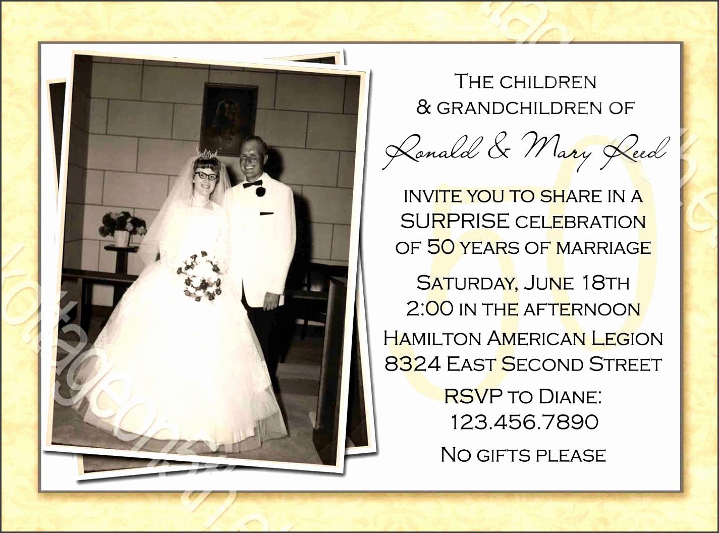 50th anniversary invitations templates free