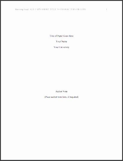Apa Format Sample Research Proposal View r
