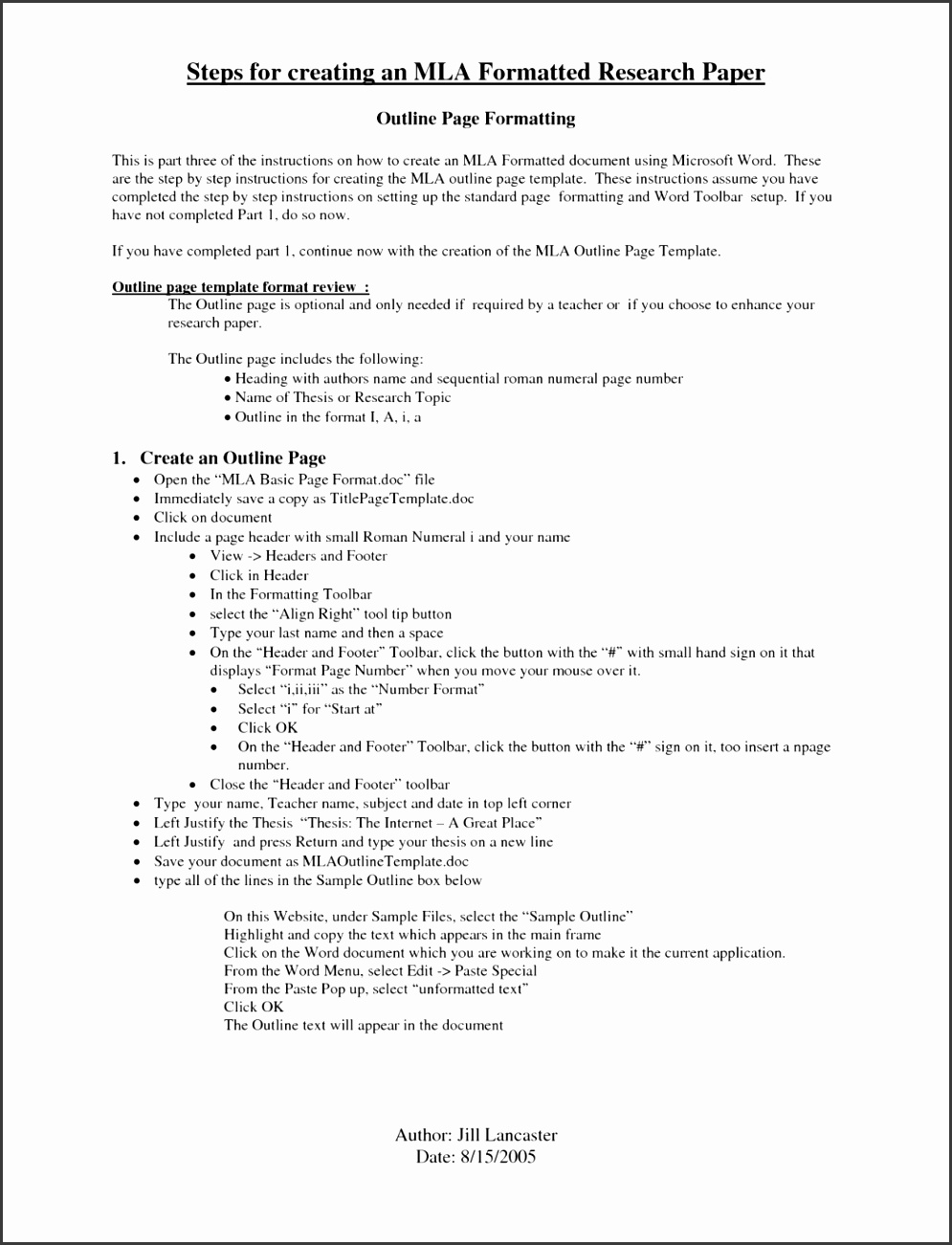 10 apa style paper template