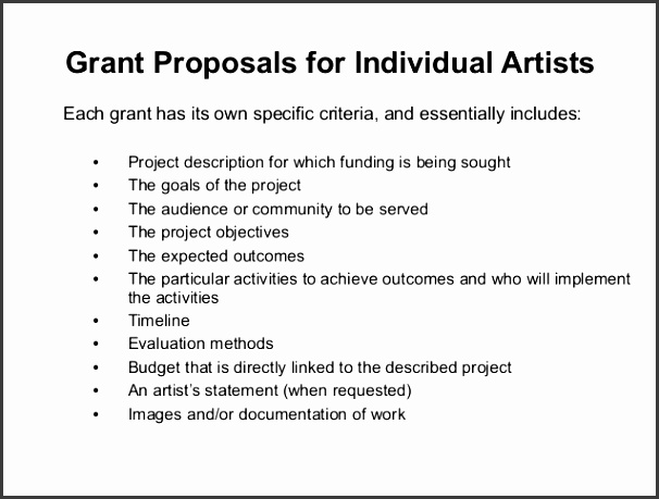 NNFS National Network of Fiscal Sponsors 12 Grant Proposals for Individual Artists