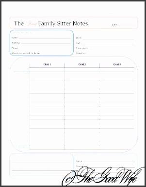 Babysitter Notes household binder home management binder organization