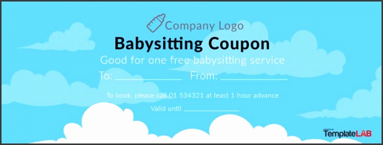 Babysitting Coupon Templates