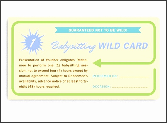 8 babysitting vouchers template - sampletemplatess