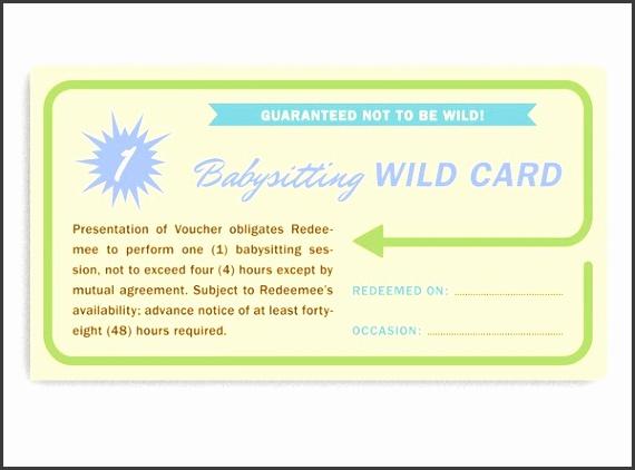 8 babysitting vouchers template