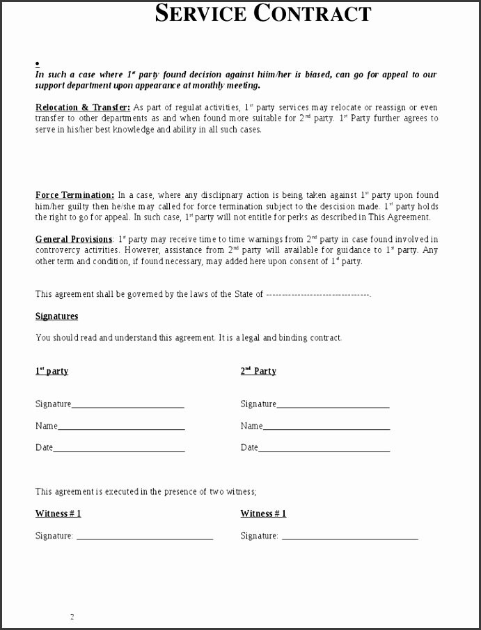 simple service agreement template service agreement contract