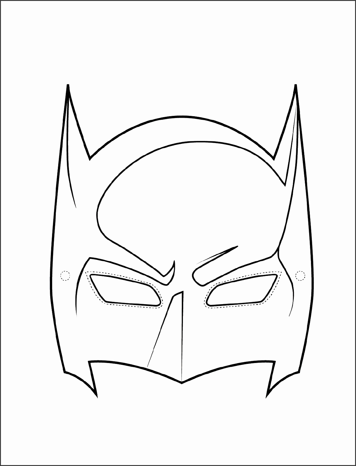 Batman Party Mask Template