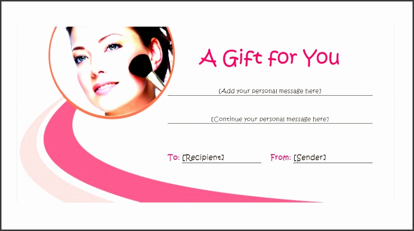 10 beauty gift voucher template free - sampletemplatess