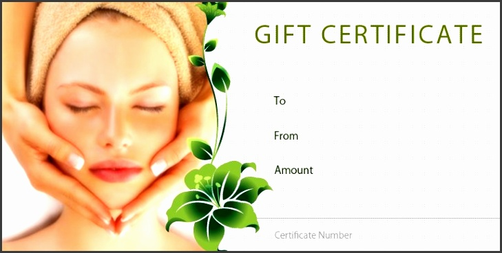 Spa Gift Certificate Templates