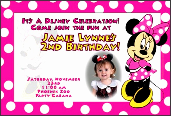 8 birthday invitation card template sampletemplatess minnie mouse birthday invitation card template stopboris Images