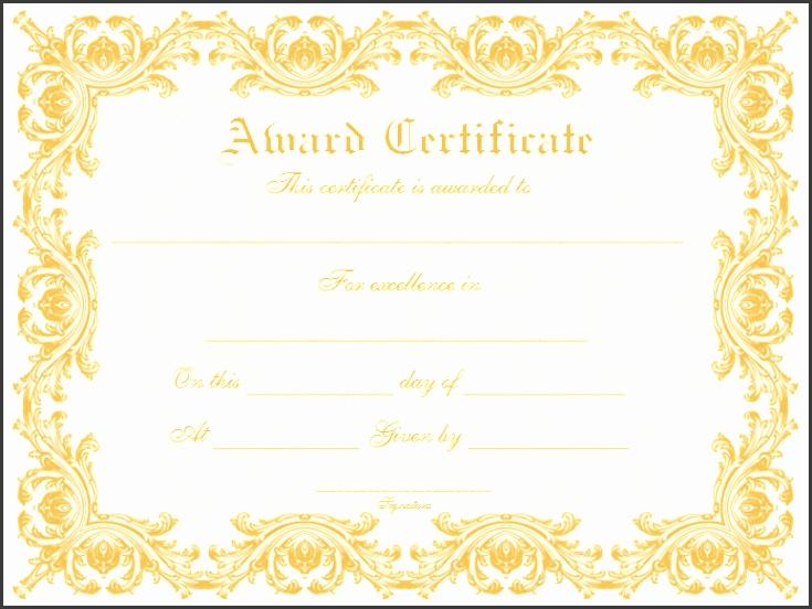 Delicate Award Certificate Template