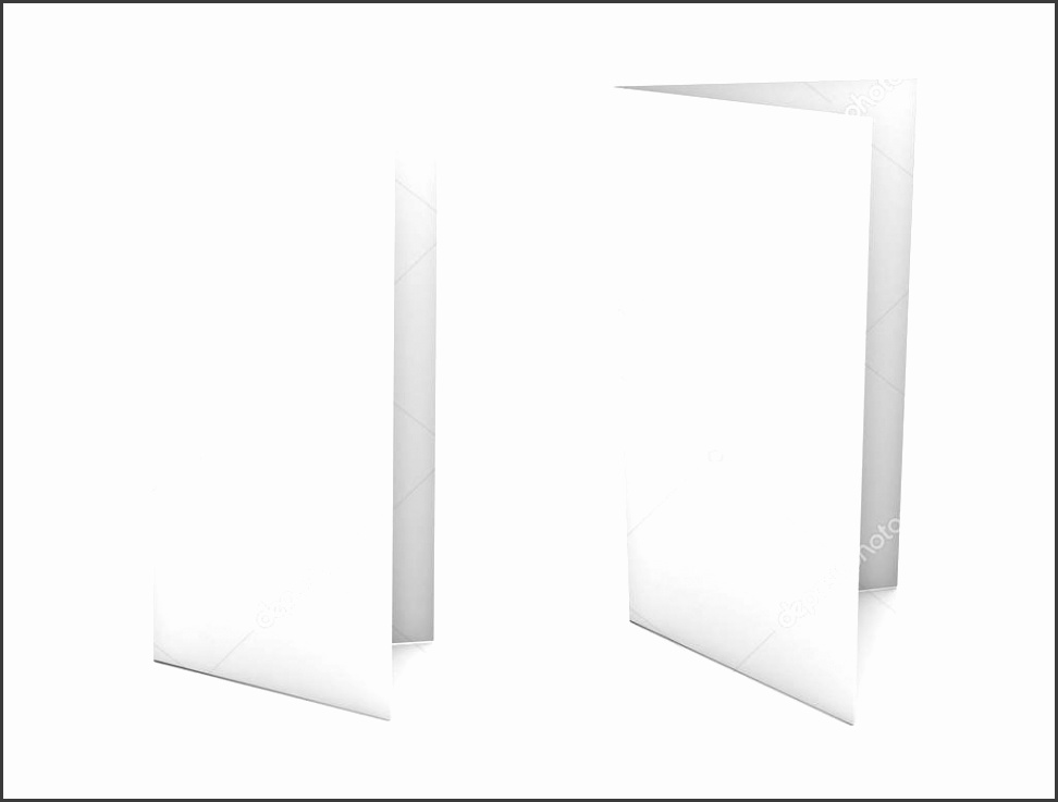 Template Helloalive Blank Brochure Flyer Isolated Over White Background Stock