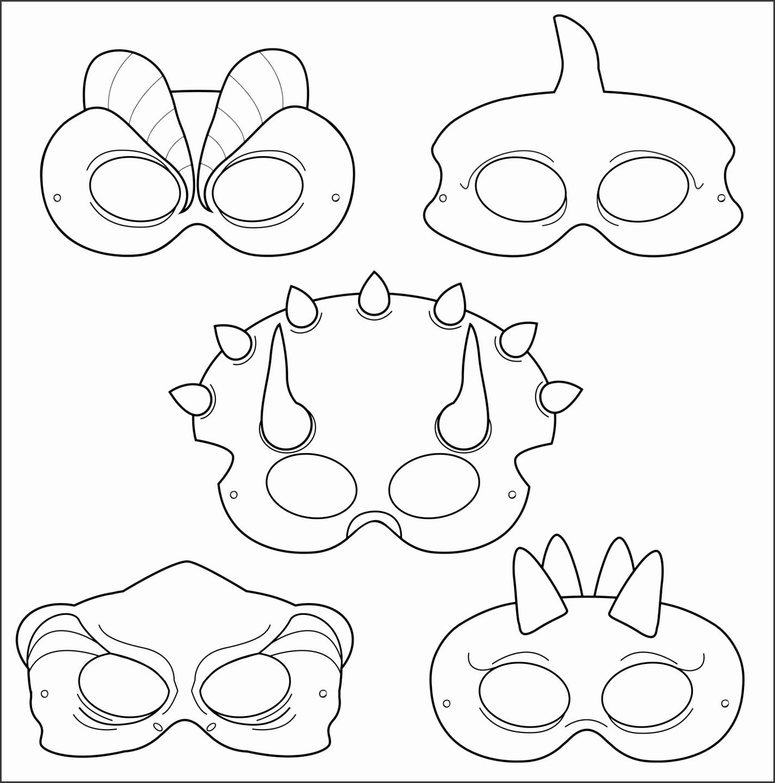 5 Blank Mask Templates Printable