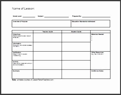 teaching plan template
