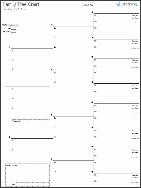 Blank Family Tree Chart Portrait