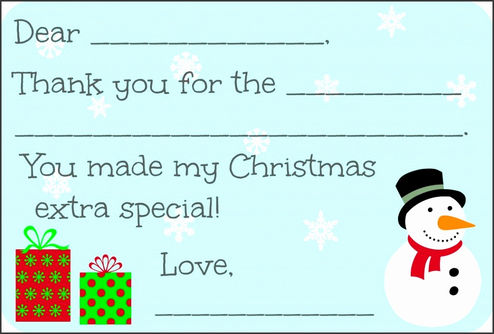Printable Christmas Thank You Cards 11