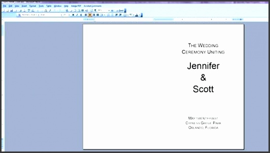 5 blank wedding program template sampletemplatess sampletemplatess