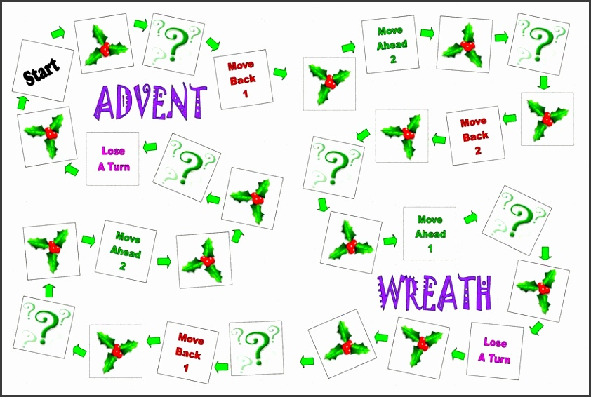 Advent Wreath file folder game