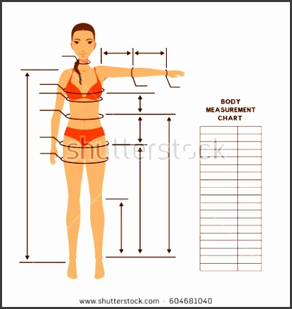 Woman body measurement chart Scheme for measurement human body for sewing clothes ting
