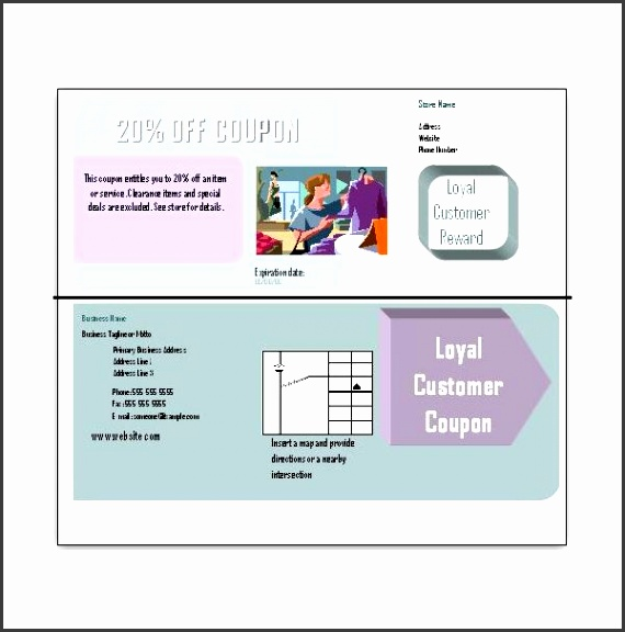 Coupon Templates for Download Double Sided