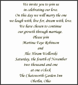 Wedding Invitation Templates Wedding Invitation Wording From Bride And Groom For Simple Invitations Your Wedding