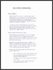 4 pages How to Write a Briefing Note