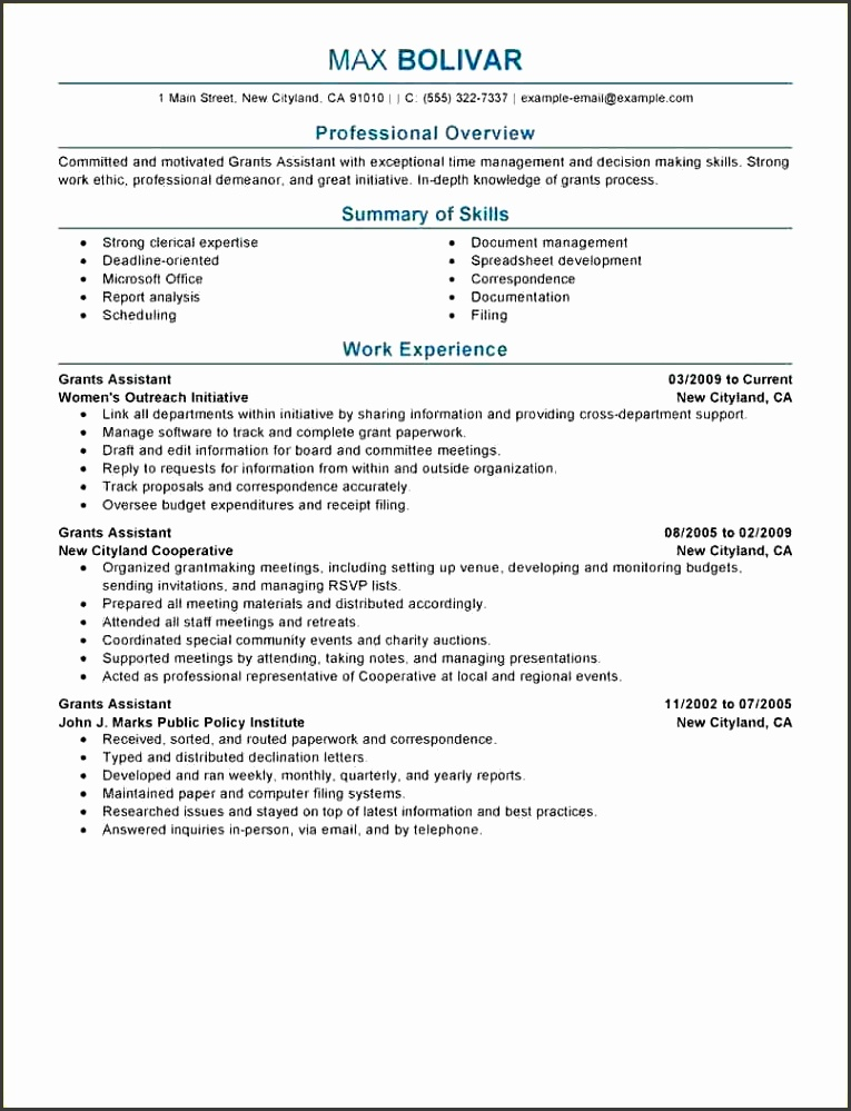 12 Example Perfect Resume Bud Template Letter Example Perfect Resume