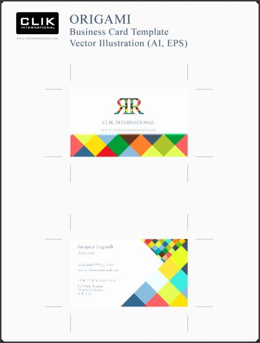 Business Card Template Ai
