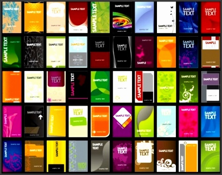 variety of business card template 01 vector