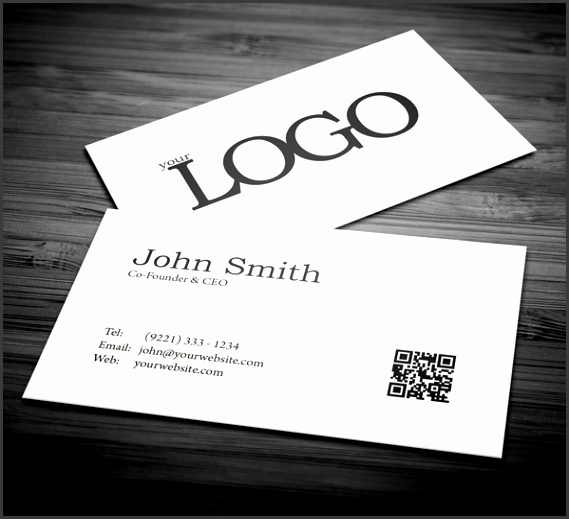Free Minimal Business Card PSD Template