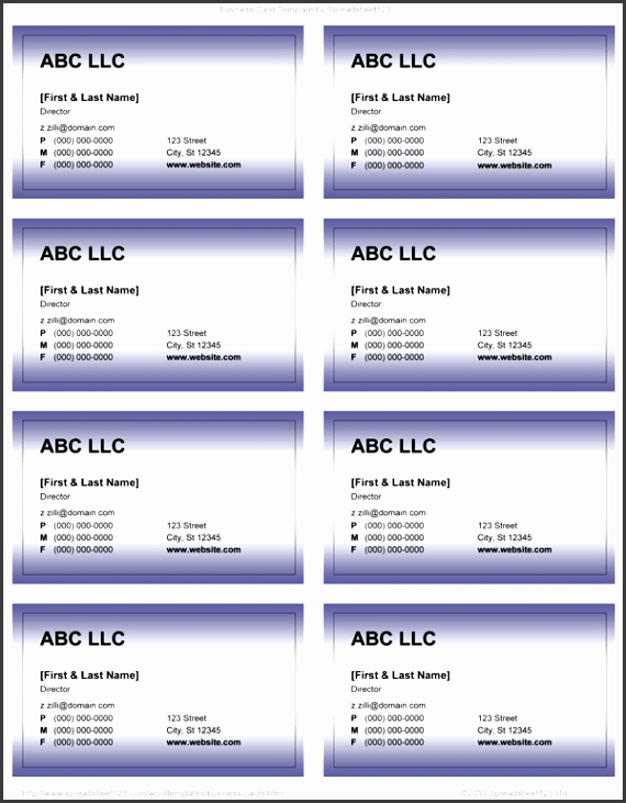 Word 2013 Business Card Template Business Card Templates For Word