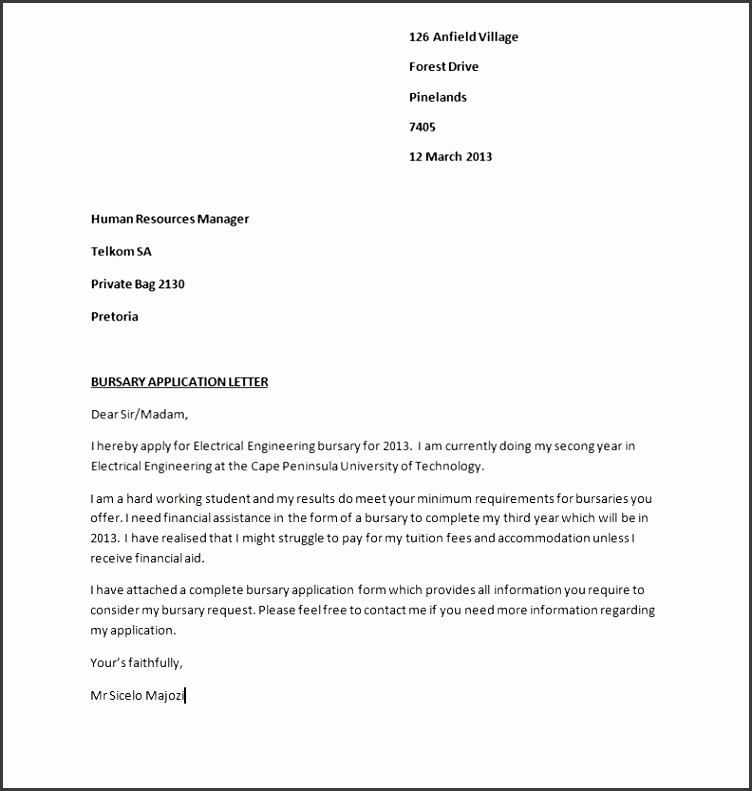 Cover letter for business school admissions