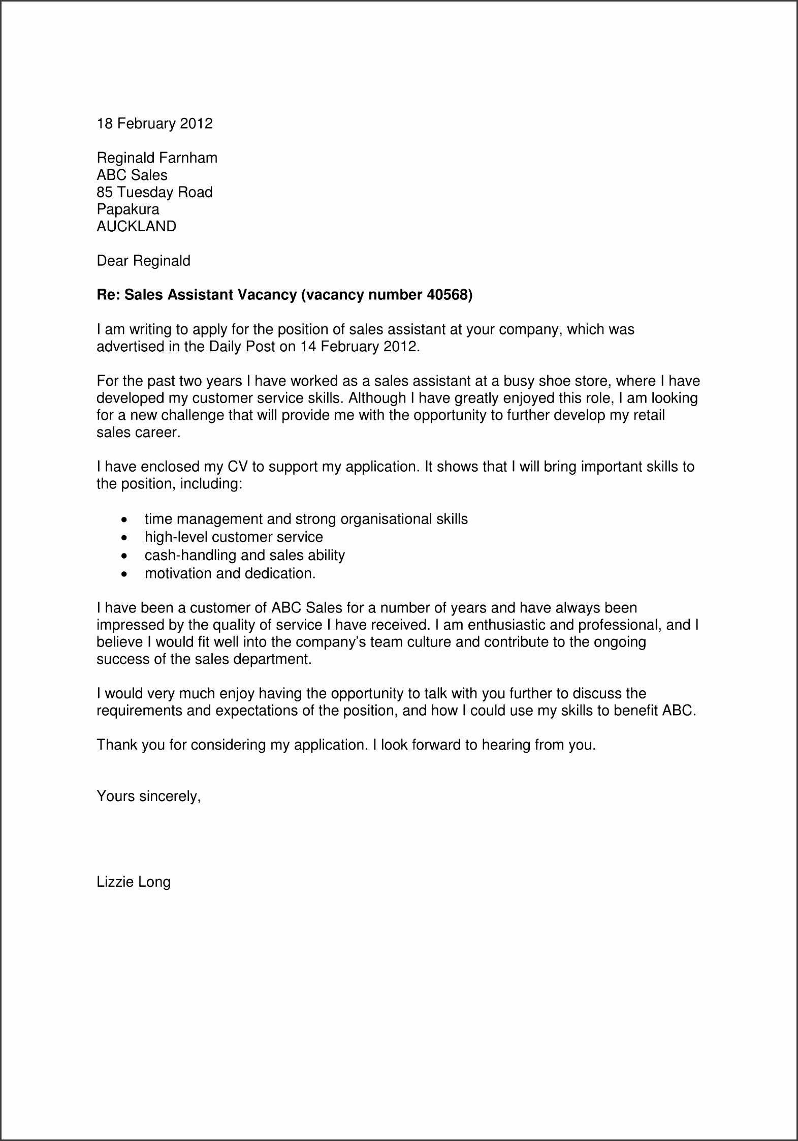 7 business cover letter template