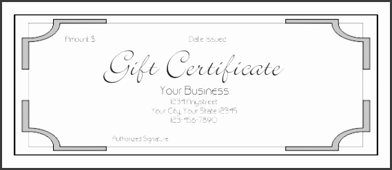 Business Gift Certificate Template Gift Certificate Template 7 Download