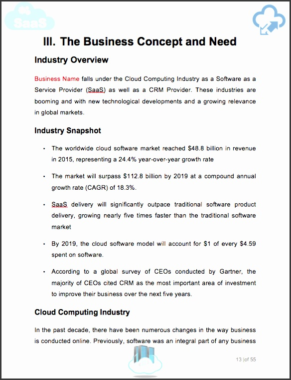 10 business plan format template sampletemplatess sampletemplatess here to learn more about this saas business plan template flashek Image collections