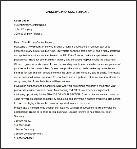 Business Proposal Email Template Business Proposal Template 38 Free Word Pdf Documents Download