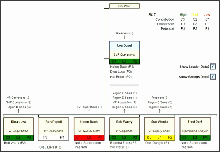 Succession Planner Organization Chart