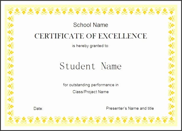 Certificate Template Download